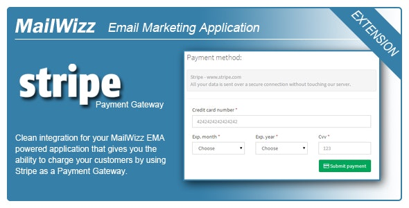 MailWizz EMA integration with Stripe Payment Gateway for Subscriptions - CodeCanyon Item for Sale