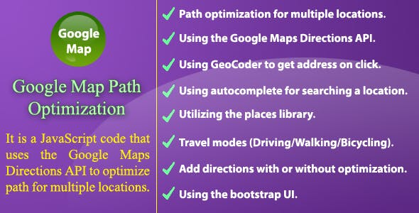 Google Map Path Optimization