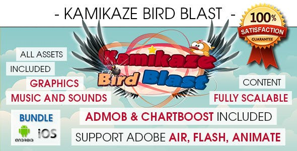 Kamikaze Bird Blast With Ads - Bundle