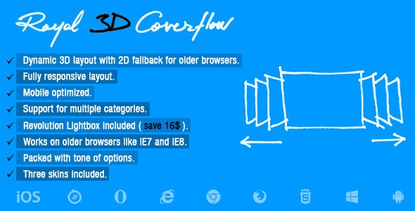 Royal 3D Coverflow - CodeCanyon Item for Sale
