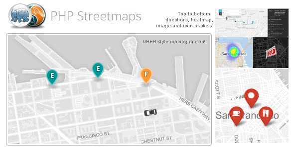 PHP Streetmaps (Uber-style moving makers and more...) - CodeCanyon Item for Sale