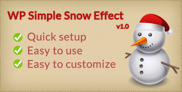 WP Simple Snow Effect - CodeCanyon Item for Sale