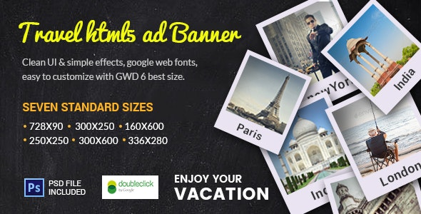 GWD  | Travel Destination HTML Banner 03 - CodeCanyon Item for Sale