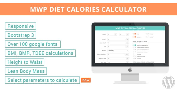 MWP Wordpress Diet Calorie Calculator