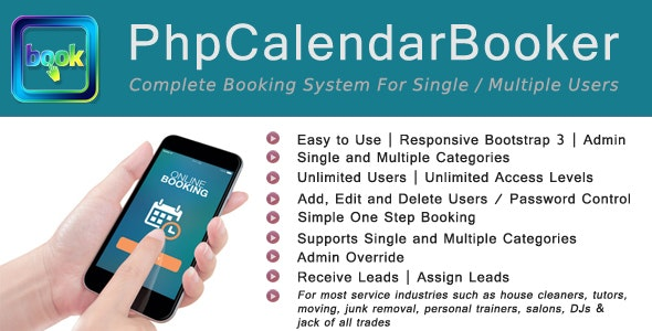 PhpCalendarBooker - CodeCanyon Item for Sale