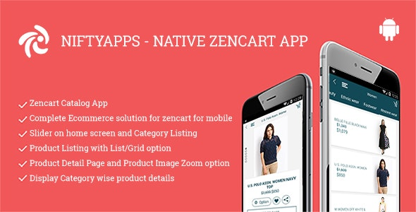 Niftyapps - Native Zencart Mobile App for Android by