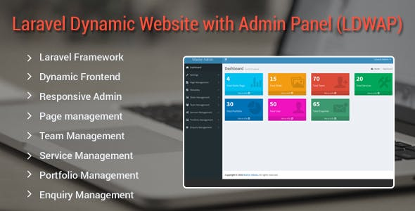 Laravel Dynamic Website with Admin Panel (LDWAP)