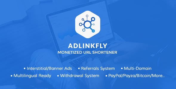 AdLinkFly - Monetized URL Shortener        Nulled