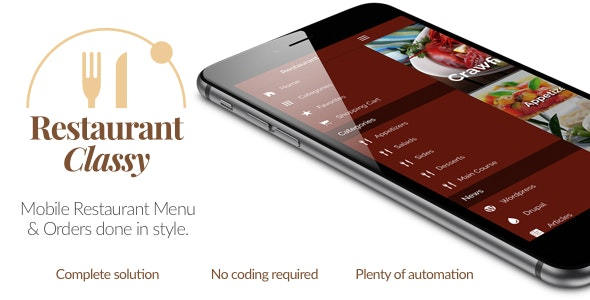 Restaurant Ionic Classy- Full Application with Firebase backend - CodeCanyon Item for Sale