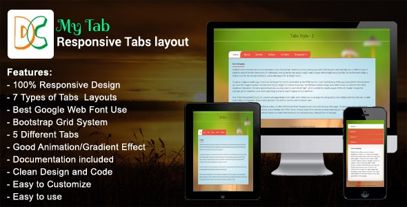 My Tab - Responsive Bootstrap Tabs - CodeCanyon Item for Sale