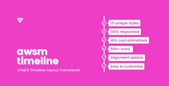 Timeline Framework HTML5 - CodeCanyon Item for Sale