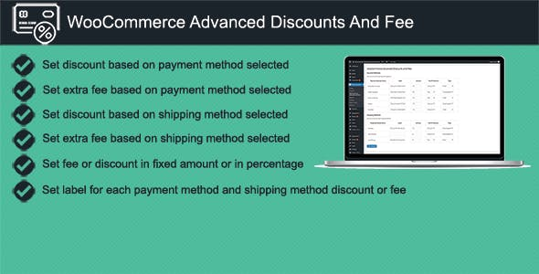 WooCommerce Advanced Discounts and Fees