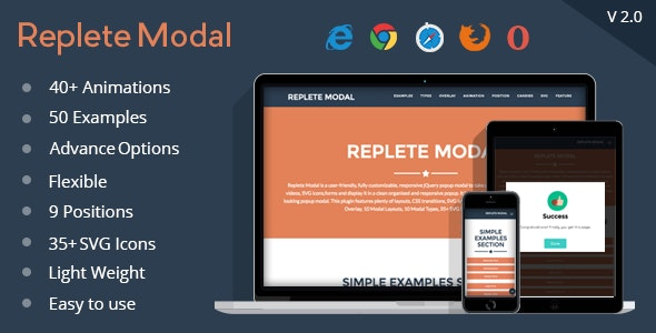 Replete Modal - CodeCanyon Item for Sale