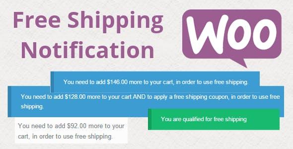 WooCommerce Free Shipping Notification