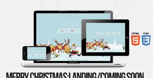 Merry Christmas - Illustrated/Animated Coming Soon Plugin