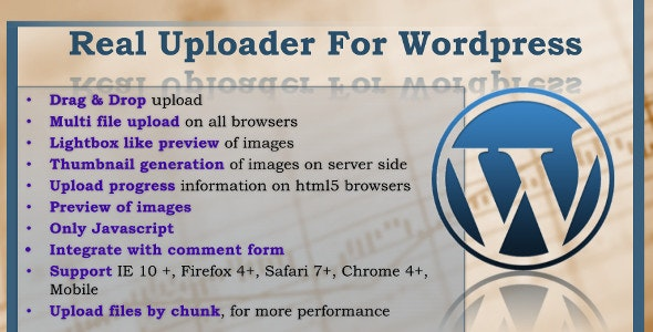 Real Uploader for Wordpress - CodeCanyon Item for Sale