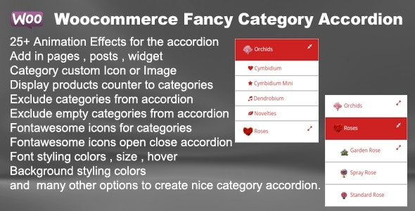 Woocommerce Fancy Category Accordion - CodeCanyon Item for Sale