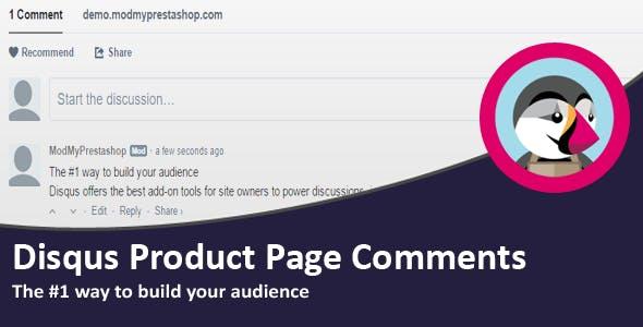 Disqus Product Page Comments