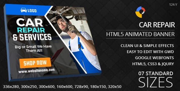 Car Repair - HTML5 Ad Banners