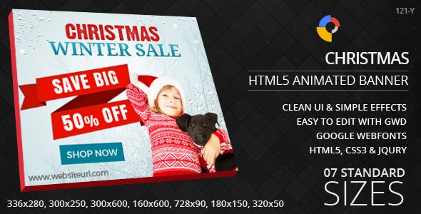 Christmas - HTML5 Ad Banners - CodeCanyon Item for Sale