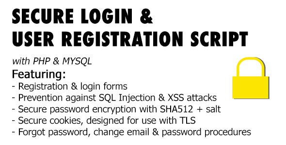 Secure Registration & Login User Management System with PHP & MySql