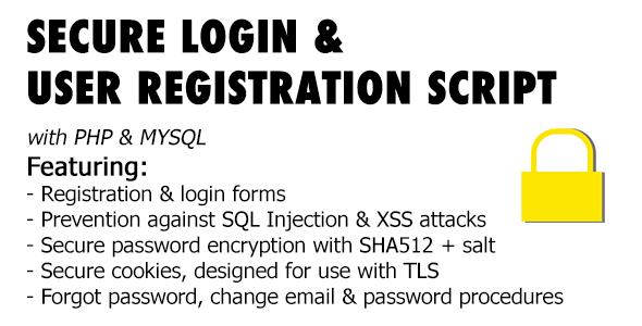 Secure Registration & Login User Management System with PHP & MySql - CodeCanyon Item for Sale