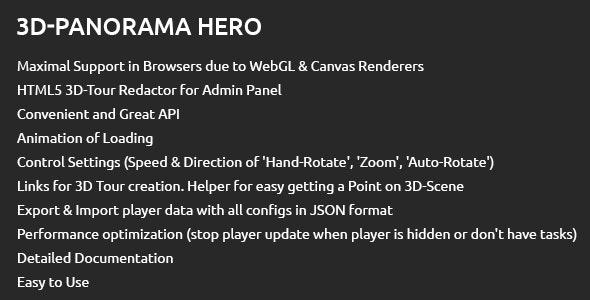 3D-Tour Hero | Script of WebGL Based Virtual Tour + Visual Constructor - CodeCanyon Item for Sale