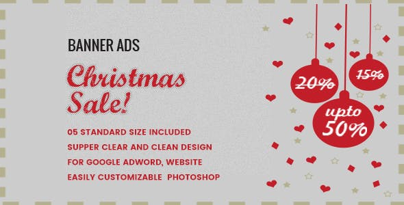 Christmas Sale Banner HTML5 - Animate