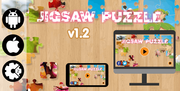 Jigsaw Puzzle - HTML5 Desktop and Mobile Game + Admob