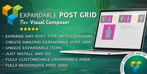 Expandable Post Grid Visual Composer AddOn