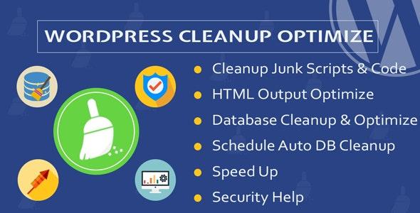 Wordpress Cleanup & Optimize Plugin - CodeCanyon Item for Sale