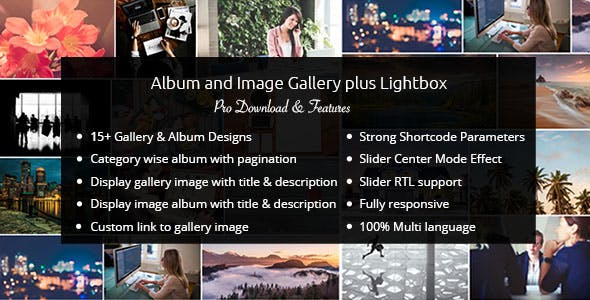 Album and Image Gallery Plus Lightbox