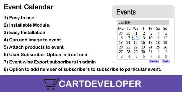 Event Calendar for Opencart - CodeCanyon Item for Sale