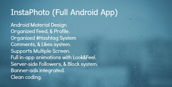 InstaPhoto - Full Android App - CodeCanyon Item for Sale
