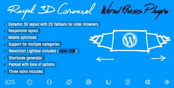 Royal 3D Carousel Wordpress Plugin - CodeCanyon Item for Sale