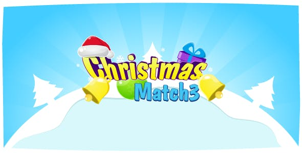 Christmas Match3 - HTML5 Game Construct2 (.capx) + leaderboard API
