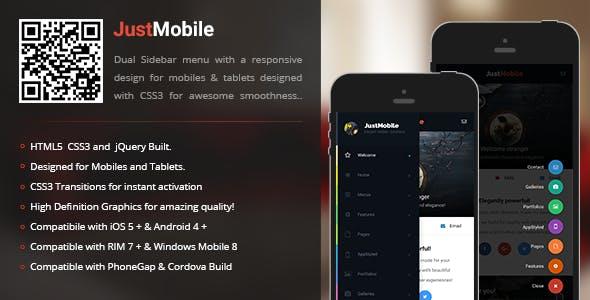 JustMobile | Sidebar Menu for Mobiles & Tablets