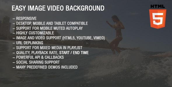 Easy Image Video Background - CodeCanyon Item for Sale