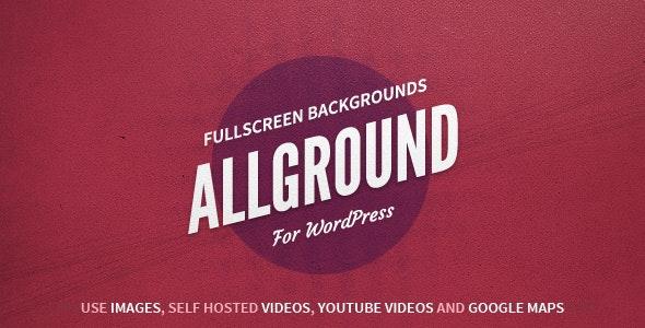 Allground - WordPress Fullscreen Background | Media