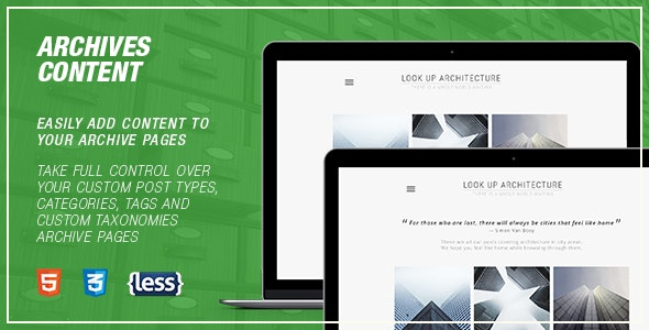 WordPress Archives Content - CodeCanyon Item for Sale