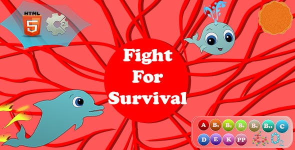 Fight For Survival - HTML5 Game (.capx)