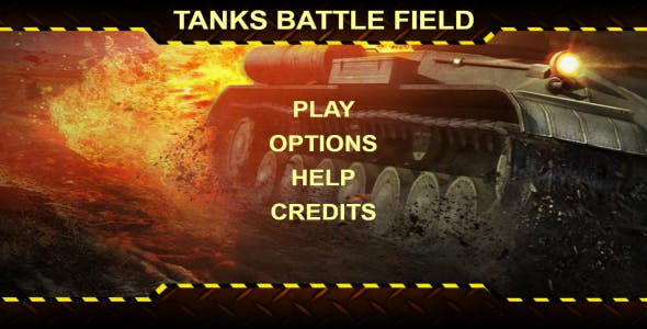 Tanks Battle Field V1.0 - HTML 5 Game (Mobile Optimised)
