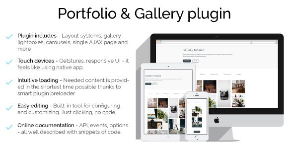 Alfred - Portfolio & Gallery JavaScript plugin