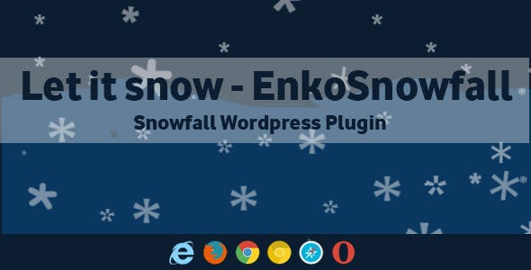 Let it Snow EnkoSnowfall - Wordpress Snowfall Plugin