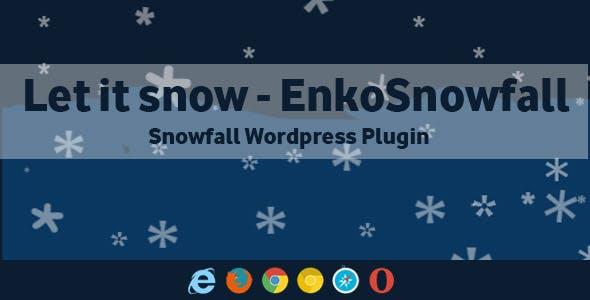 Let it Snow EnkoSnowfall - Wordpress Snowfall Plugin