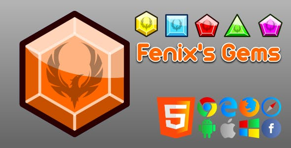 Fenix's Gems - HTML5 Game