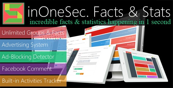 inOneSec. Incredible Facts & Statistics in One Second - LITE - CodeCanyon Item for Sale