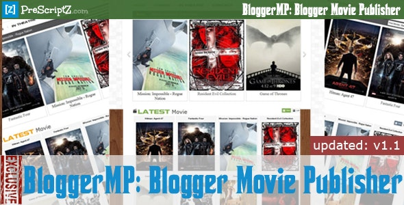 Blogger Movie Publisher - Watch Movie Blog Maker - CodeCanyon Item for Sale
