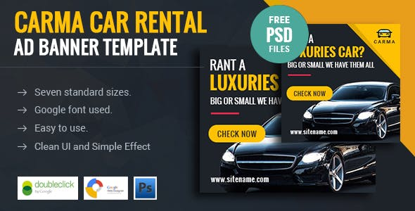 Carma | Car Rental HTML 5 Animated Google Banner
