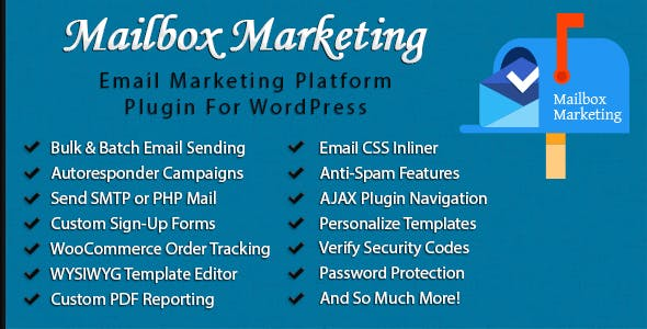 Mailbox Marketing - Email Newsletter & Marketing Plugin for WordPress